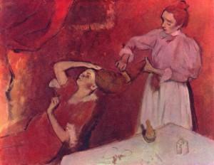 fryzjer obraz Degasa